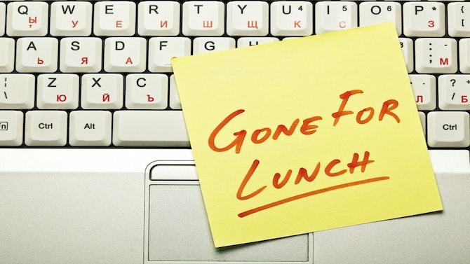 Lunch break concept