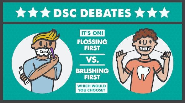 Brushing-v-Flossing