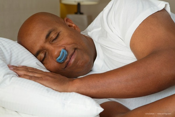 The Airing machine is designed to treat sleep apnea, though it is significantly smaller than a CPAP system.