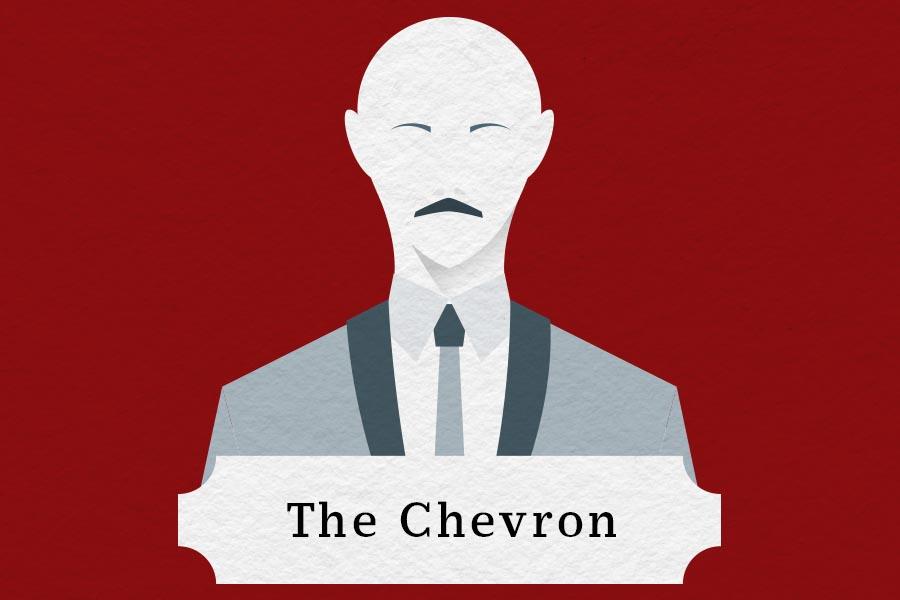 mustache styles chevron