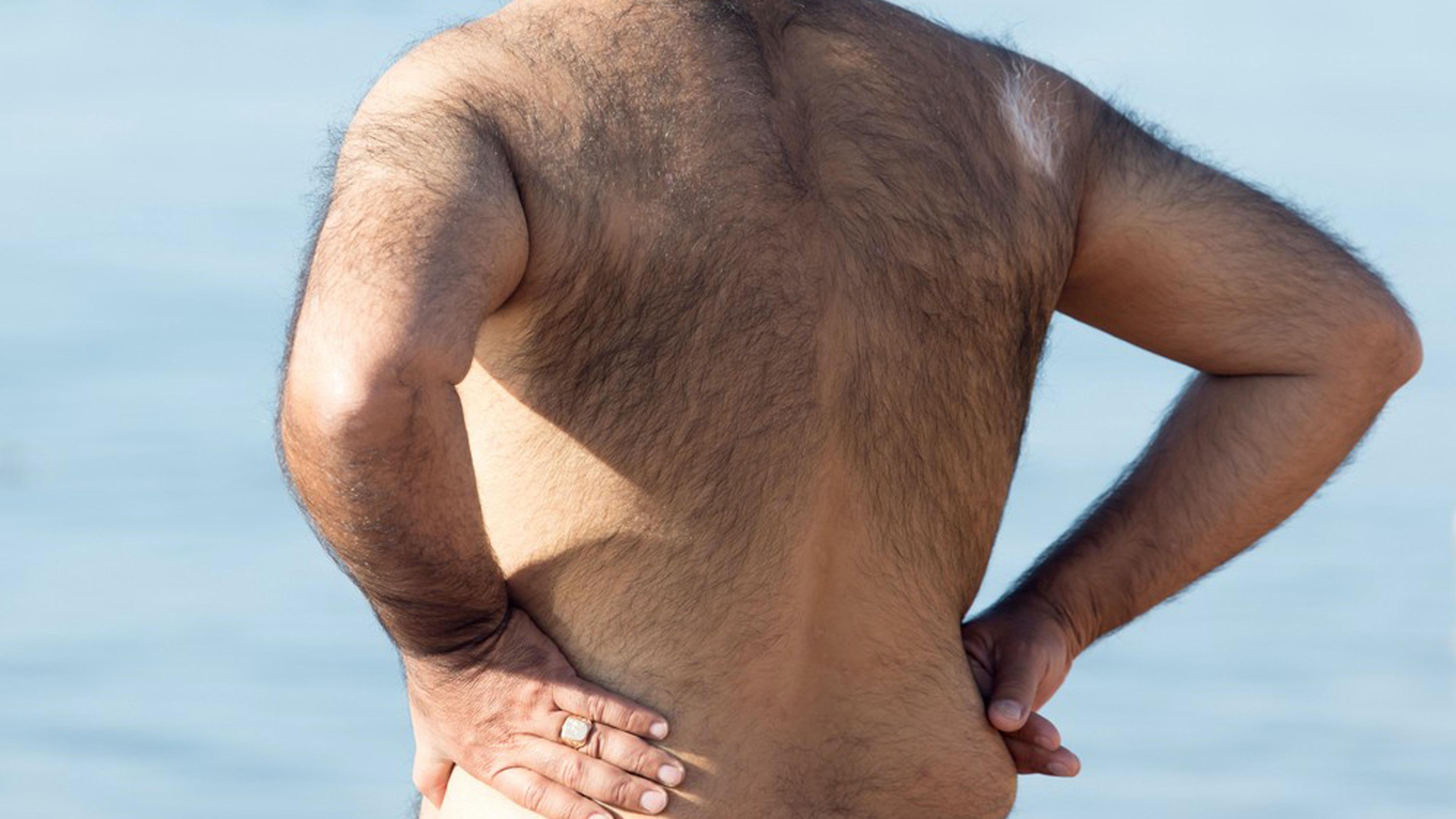 Hairy men butts
