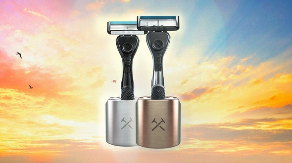 no to wet razors with stand